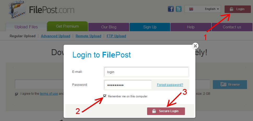 How to configure IDM to work with FilePost.com site?