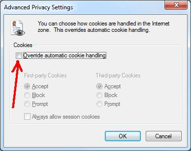 how to allow cookies from a website