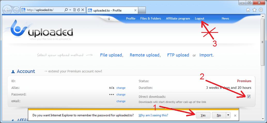 Upload Premium Download
