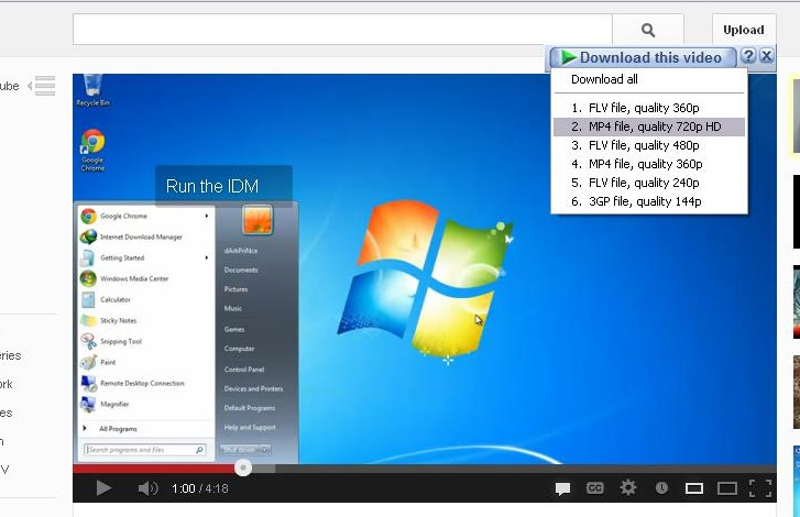 Download videos with Internet Download Manager