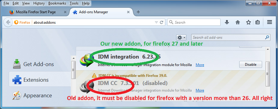 I cannot integrate idm into firefox what should i do ccuart