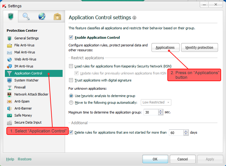 how to disable firewall in kaspersky antivirus