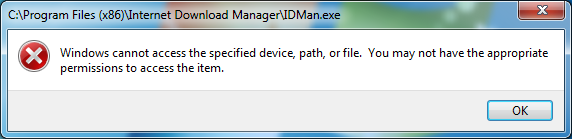 When I try to download any file with IDM it just tries to