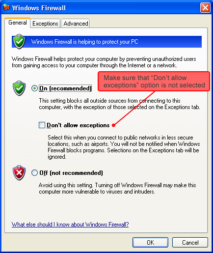How to configure Windows Firewall to work with Internet