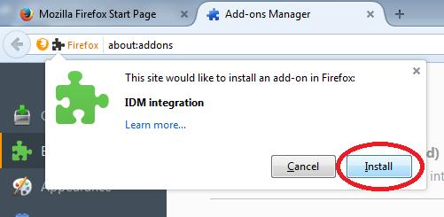 idm compatible avec firefox 57.0